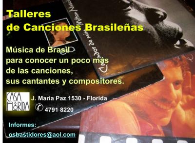 Talleres de canciones, compositores e intérpretes de Brasil julio 2012